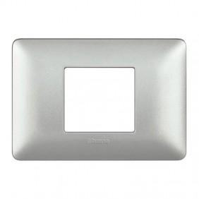 Placca Bticino Matix 2 Moduli centrati silver...