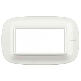 Bticino Axolute Plate 4 modules white HB4804HD