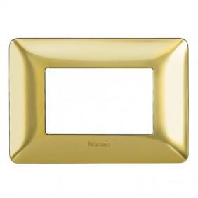 Placca Bticino Matix 3 moduli oro satinato...