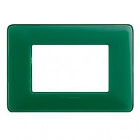 Placca Bticino Matix 3 moduli smeraldo AM4803CVS