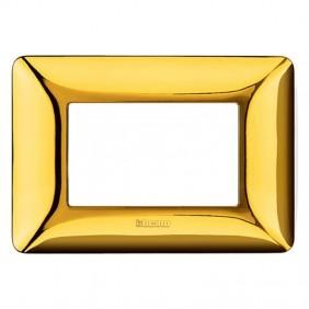 Placca Bticino Matix 3 moduli oro lucido AM4803GOR