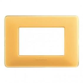 Placca Bticino Matix 3 moduli ambra AM4803CAB