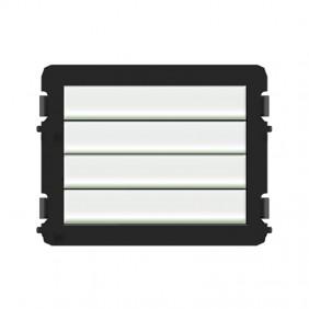 Modulo 4 Pulsanti ABB Rettangolari WLM214X
