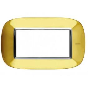Bticino Axolute Placca 4 moduli oro lucido...