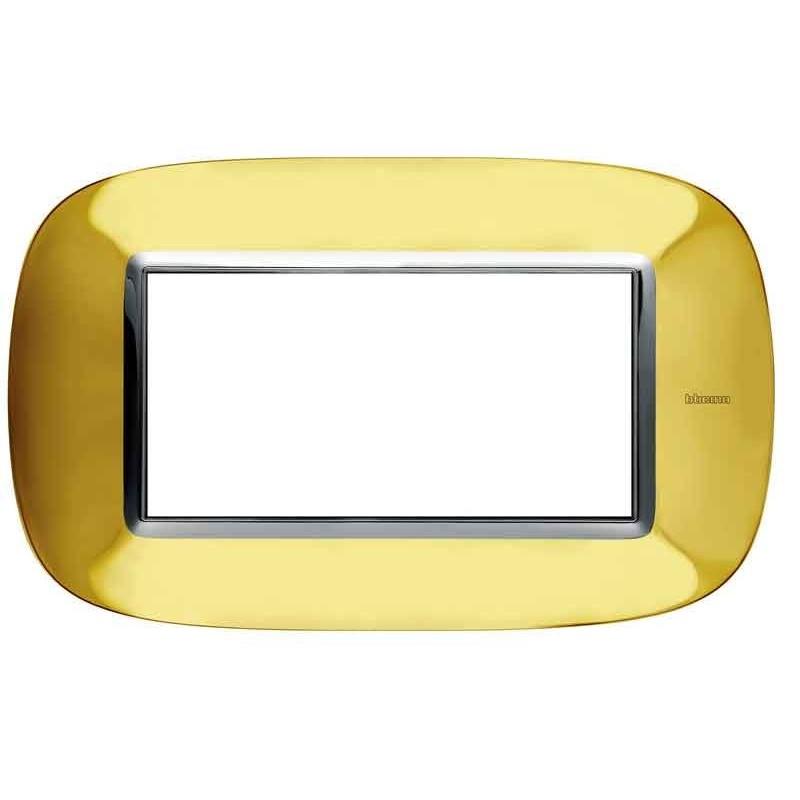 Bticino Axolute Placca 4 moduli oro lucido HB4804OR