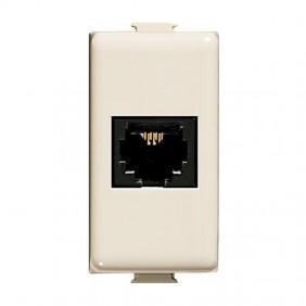 RJ11 Phone jack Bticino Magic TT ivory clamp A5982