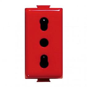 Bticino Matix Magic TT Outlet Bypass Red,...