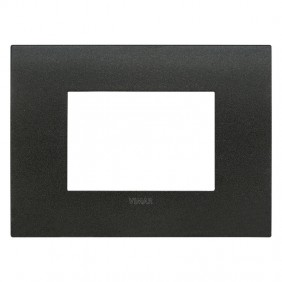Plate Vimar FIT 3 modules matt graphite 19953.01