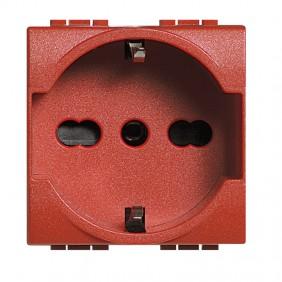 Bticino Livinglight presa schuko rossa  L4140/16R