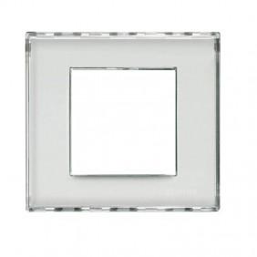 Placca 2 mod Kristall personalizzabile Bticino...