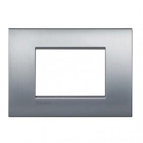 Plate Bticino LivingLight AIR brushed chrome 3...