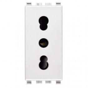 Vimar Eikon two-pin socket white 2P+E 10/16A...