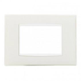 Plate Vimar Eikon white 3 modules ice Classic...
