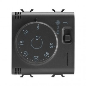 Gewiss Thermostat Chorus Black GW12705