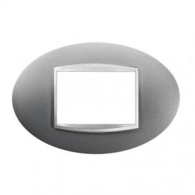 Gewiss Chorus placca ART 3P titanio GW16303VT