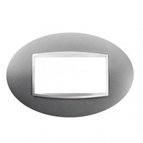 Gewiss Chorus plate ART 4P titanium GW16304VT