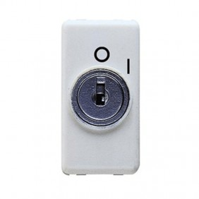 Gewiss system double-pole white key switch GW20005