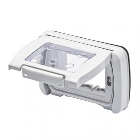Watertight plate Gewiss system grey ip55 3...