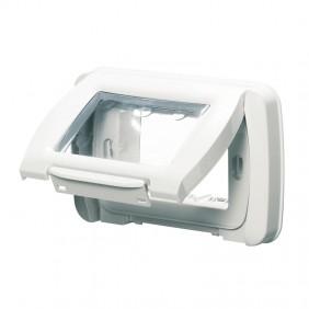Watertight plate Gewiss system white ip55 3...