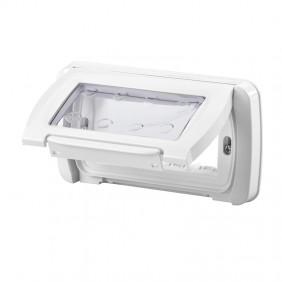 Watertight plate Gewiss system white ip55 4...