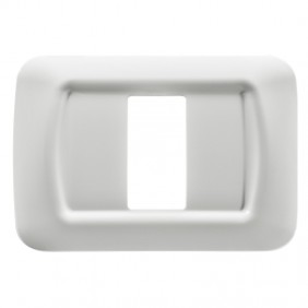 Gewiss system white top plate 1 place GW22501