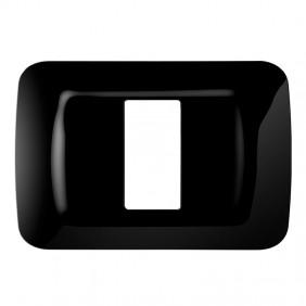 Gewiss system black top plate 1 place GW22511