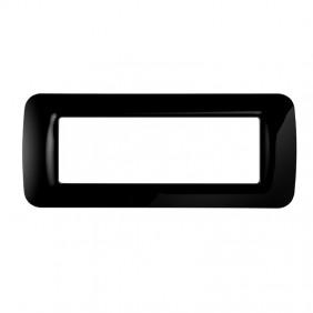 Gewiss system black top plate 6 positions GW22516