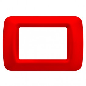 Gewiss system red top plate 3 places GW22523