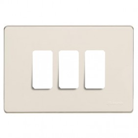 Plate for switches Bticino Magic 3 places resin...