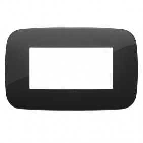 Plate Vimar Arke Round 4 modules black 19684.81