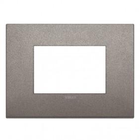 Placca Vimar Arke Classic 3 Moduli titanio matt...