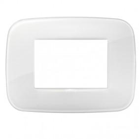 Plate Vimar Arke round 3 modules reflex ice...