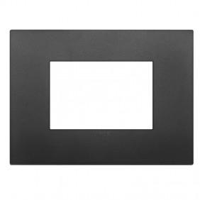 Plate Vimar Arke 3 modules classic black 19653.71
