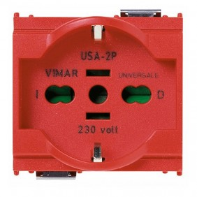 Vimar Idea schuko universal outlet 16A red 16210.