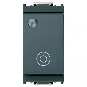 Vimar Idea 10A bright pushbutton grey 1PNO 16090