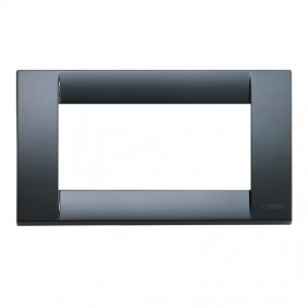 Placca Vimar Idea 4 moduli tecnopolimero grigio...