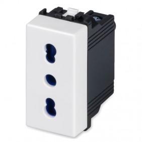 Master Mix 2P+E 10/16A two-way socket white 21159