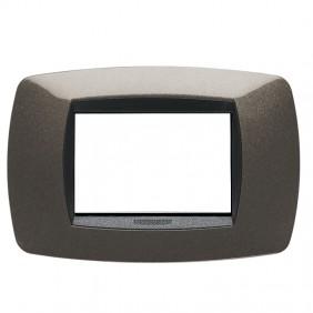 Placca Master Modo 3 Moduli grigio antracite...