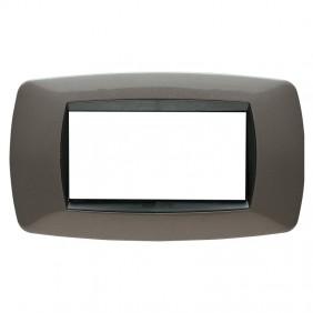 Placca Master Modo 4 Moduli grigio antracite...