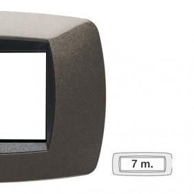 Placca Master Modo 7 moduli grigio antracite...