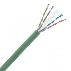 Lan cable CAT5E U/UTP LSZH CPR ECA Green UTP5ELSZH