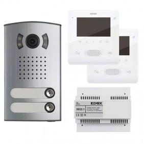 KIT Videocitofono Bifamiliare Elvox  2 Fili con...