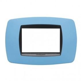 Master plate Modo 3 places light blue soft 39TC723