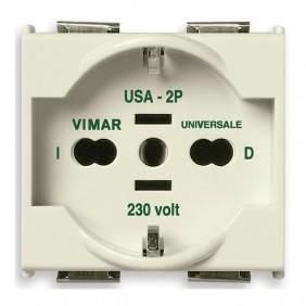 Vimar 8000 2X16A+E Universal Scuko socket 08410