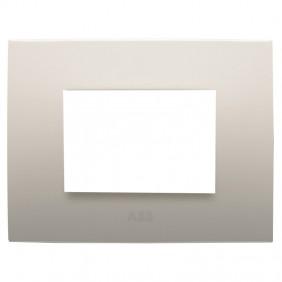 Abb Chiara plate 3 modules sand 2CSK0302CH