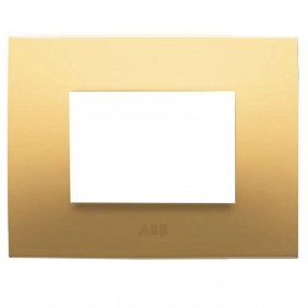 Abb Chiara plate 3 modules yellow pastel...