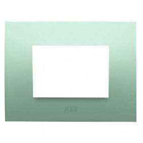 Abb Chiara placca 3 moduli verde pastello...