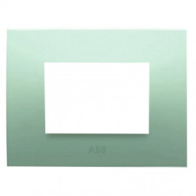 Abb Chiara plate 3 modules green pastel 2CSK0313CH