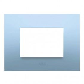 Abb Chiara placca 3 moduli azzurro pastello...