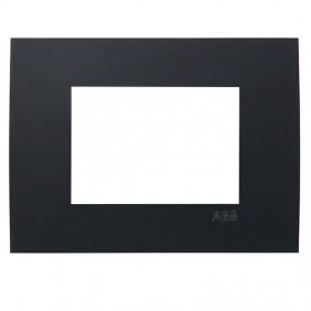 Placca Abb Etik Square Mylos 3 moduli nero...